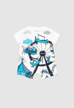 boboli - Tutina jersey, disegnato fronte e retro