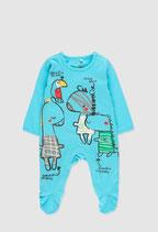 boboli - Tutina jersey con disegni in rilievo, anche sulla schiena, e antiscivolo sotto i piedini