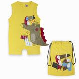 TucTuc - Pagliaccetto jersey bimbo con borsa in cotone abbinata