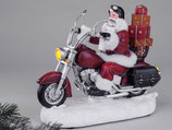 """Carillon """"Santa claus su moto con luce in resina"""