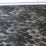 tissu dentelle D  noir