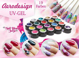 AERO DESIGN - (STAMPING) GEL SET - 19 Farben