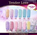 TENDER LOVE Gel in verschiedenen Farben..