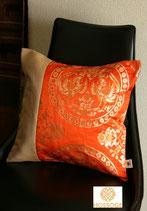 連珠鳳凰文 (Orange)