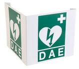 Cartello di segnalazione 3D in PVC per defibrillatori DAE