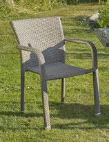 Destiny Carlos Beige-grau Stapelsessel Geflechtsessel Sessel Polyrattan Stuhl