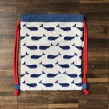 Turnbeutel für Kindergärtner Wal