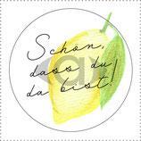 "Cupcake-Topper oder Anhänger ""Zitrone"" PDF-Datei"