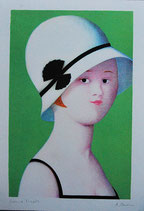 Antonio Bueno - Ragazza con il cappello 1920