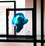 Moderne glaskunst: Emotie Vangers Blue purple