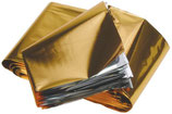 Reddingsdeken aluminium goud/zilver 210 x 160 cm