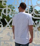 """RULE AESTHETICS """"Matrix"""" Heavy Oversized Shirt White (UNISEX)"""