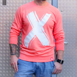 "RULE AESTHETICS ""X Signature"" Sweater Coral Marl (UNISEX)"