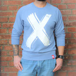 "RULE AESTHETICS ""X Signature"" Sweater Blue Marl (UNISEX)"