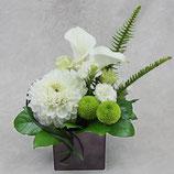 白色洋花のお供え