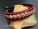 Wunsch-Halsband mit  Zugstopp, breite Muster nach Wahl, Farben frei wählbar: