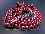 Wunsch-Retrieverleinen, 8-fach Herringbone (Vierkant) geflochten, Farben frei wählbar:
