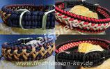 Wunsch-Halsband geflochten mit Adapter, breite Muster nach Wahl, Farben frei wählbar: