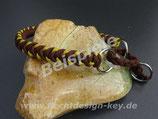 Wunsch-Halsband mit  Zugstopp, schmale Muster nach Wahl, Farben frei wählbar: