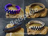 Wunsch-Halsband mit  Steckschnalle, schmale Muster nach Wahl, Farben frei wählbar: