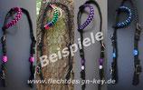 Wunsch-Flechtzaum, Einohr- Zweiohrtrense, Farben frei wählbar: