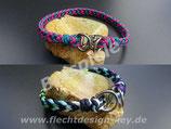 Wunsch-Halsbänder mit Steckschließer Cross Braid, Farben frei wählbar: