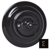 Simple interrupteur rétro rotatif en céramique noire