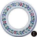 Plaque de finition en porcelaine blanche peint main modèle 4