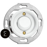 Interrupteur simple ou va et vient à bascule rétro en porcelaine