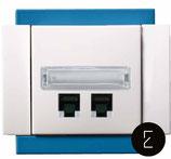 Prise Data RJ45 couleur Bleu Electrique