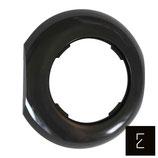 Cadre de finition intermédiaire noir pour mécanisme rétro collection LOFT