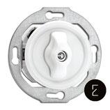 Interrupteur simple ou va et vient rotatif rétro en porcelaine