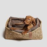Hundebett Hideaway Herringbone brown Gr. S