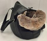 Leder Hundetasche black