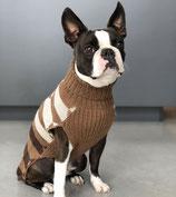 MiaCara Hundepullover Lorenzo braun, feinste Alpaka Wolle