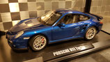 >12h: 2008 Porsche 911 991 Turbo blue metallic 1:18