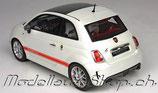 2013 Fiat Abarth 595 anniversario matt pearl white 1:18