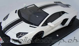 2011 Lamborghini Aventador LP700-4 white with black stripe 1:18
