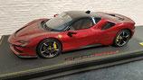 2019 Ferrari SF90 stradale rosso fiorano / black roof 1:18