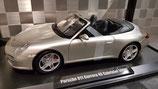 >12h: 2008 Porsche 911 991 Carrera 4S Cabrio silver 1:18