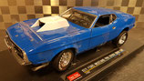 >12h: 1971 Ford Mustang Pro Stock Drag Car blue 1:18