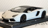 2011 Lamborghini Aventador LP700-4 glacier-white with black matt 1:18