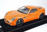 2007 Alfa Romeo 8C orange metallic 1:18
