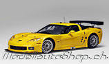 >12h: 2005  Chevrolet Corvette C6R Plain Body Version Yellow 1:18