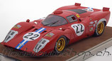 1969 Ferrari 312P Coupe Sebring #22, Parkes/Person  1:18