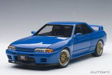 1990 Nissan Skyline GT-R (R32) Tuned Version blue 1:18
