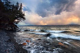 "METAL PRINTS OF ""STORMIN' OVER THE LAKE #2"""