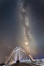"METAL PRINTS OF ""THE MILKY WAY OVER THE CHAMPLAIN BRIDGE"""