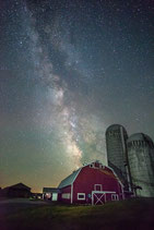 "METAL PRINTS OF ""THE MILKY WAY OVER AN OLD DAIRY IN SHELBURNE, VT"""