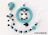 """Geschenkset """"Panda türkis"""""""